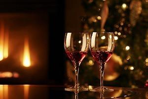 Fireside Christmas scene at The Bedford Hotel Tavistock