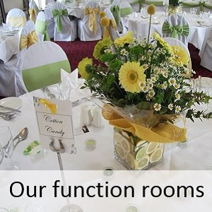 Wedding function rooms at The Bedford Hotel