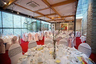 Wedding reception in Gallery 26 at The Bedford Hotel