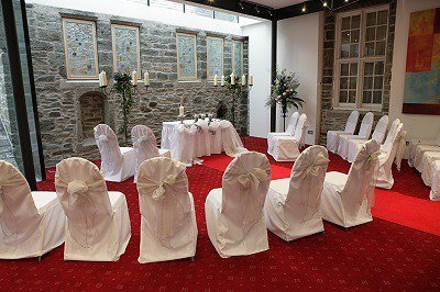 Wedding Ceremony in Gallery 26 at The Bedford Hotel