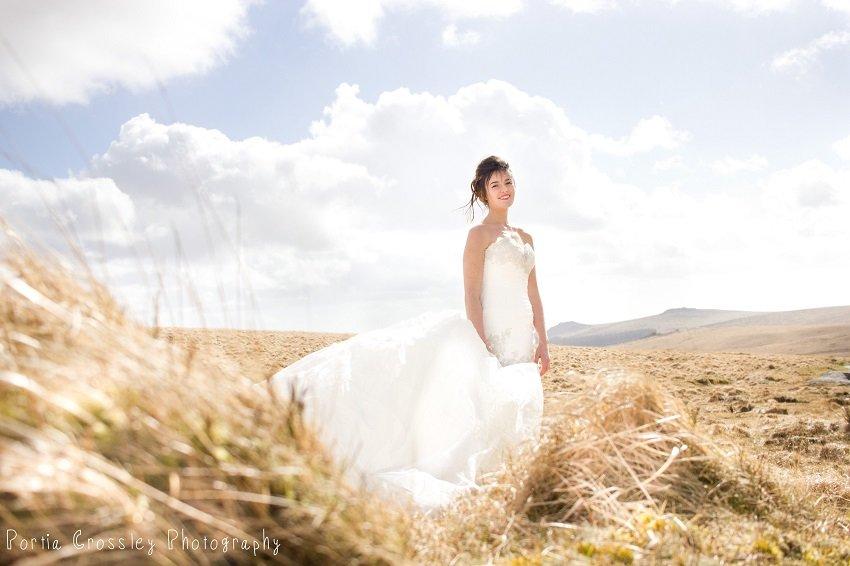 Bride on Dartmoor