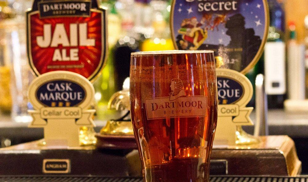 Dartmoor Brewery ale at The Bedford Hotel