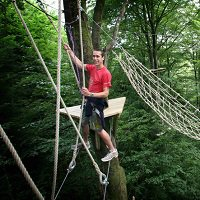 High ropes course at the Tamar Trails Centre