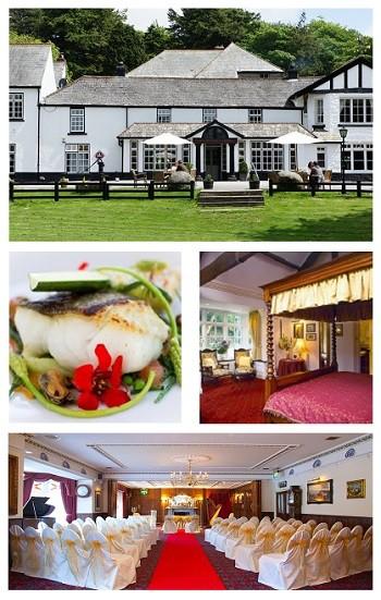 Overview of the Two Bridges Hotel in the heart of Dartmoor, Devon