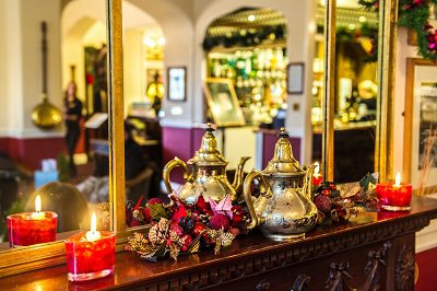 Christmas decorations at The Bedford Hotel
