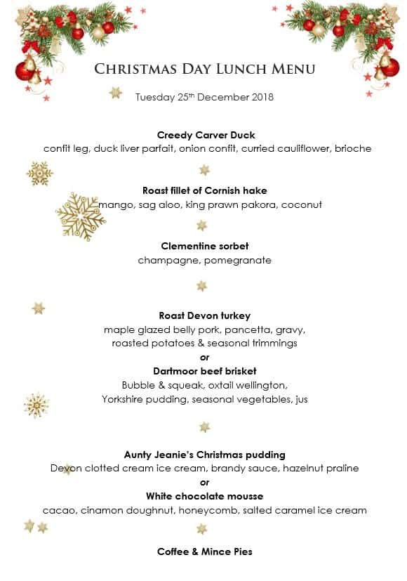 christmas day lunch at the bedford is always popular so its best to book early to avoid disappointment - Christmas Day 2018
