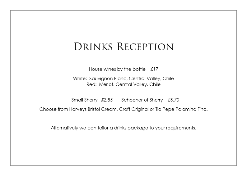 drinks for a celebration of life