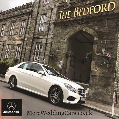 Mercedes wedding car outside Bedford Hotel Tavistock