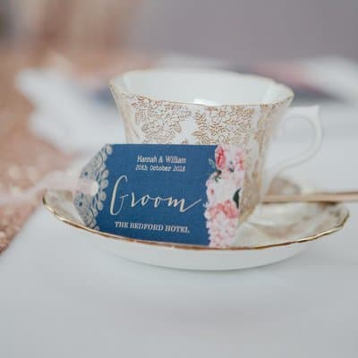 Wedding teacup at The Bedford Hotel