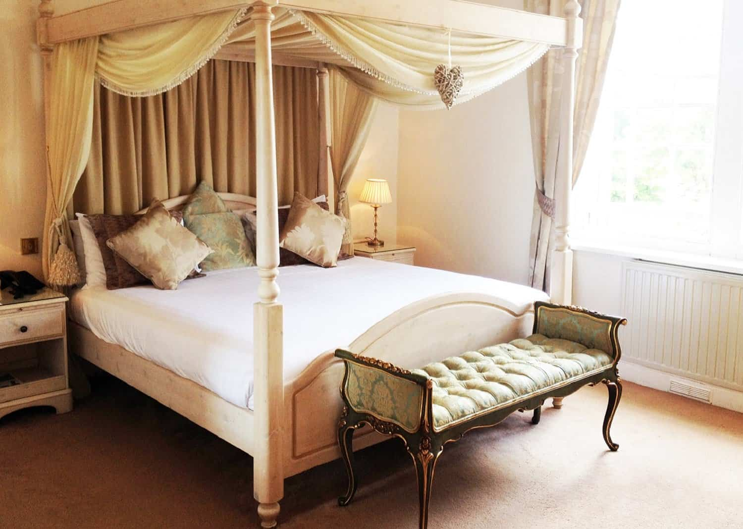 Romantic Four Poster Room at The Bedford Hotel Tavistock