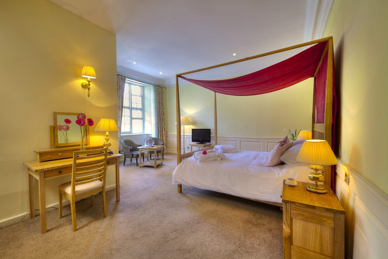 Four Poster room at The Bedford Hotel Tavistock