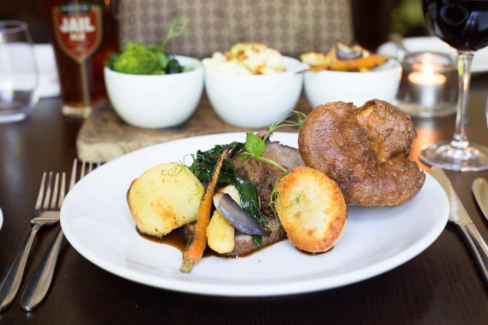Roast Beef Sunday Lunch - The Bedford Hotel Tavistock