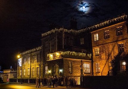 The Bedford Hotel at night