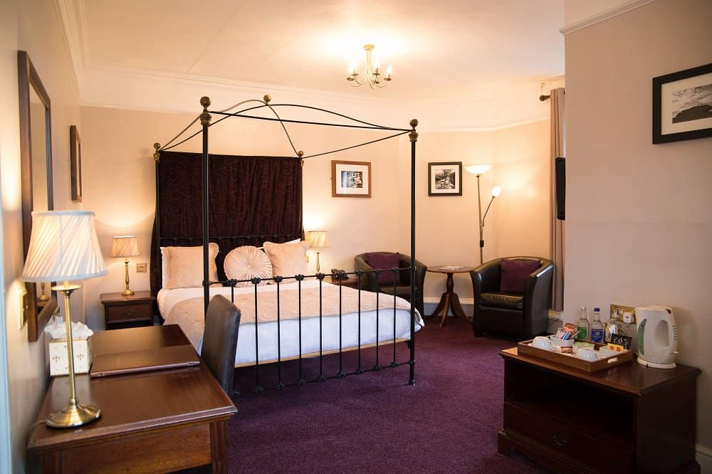 Hotel bedroom at The Bedford Hotel in Tavistock