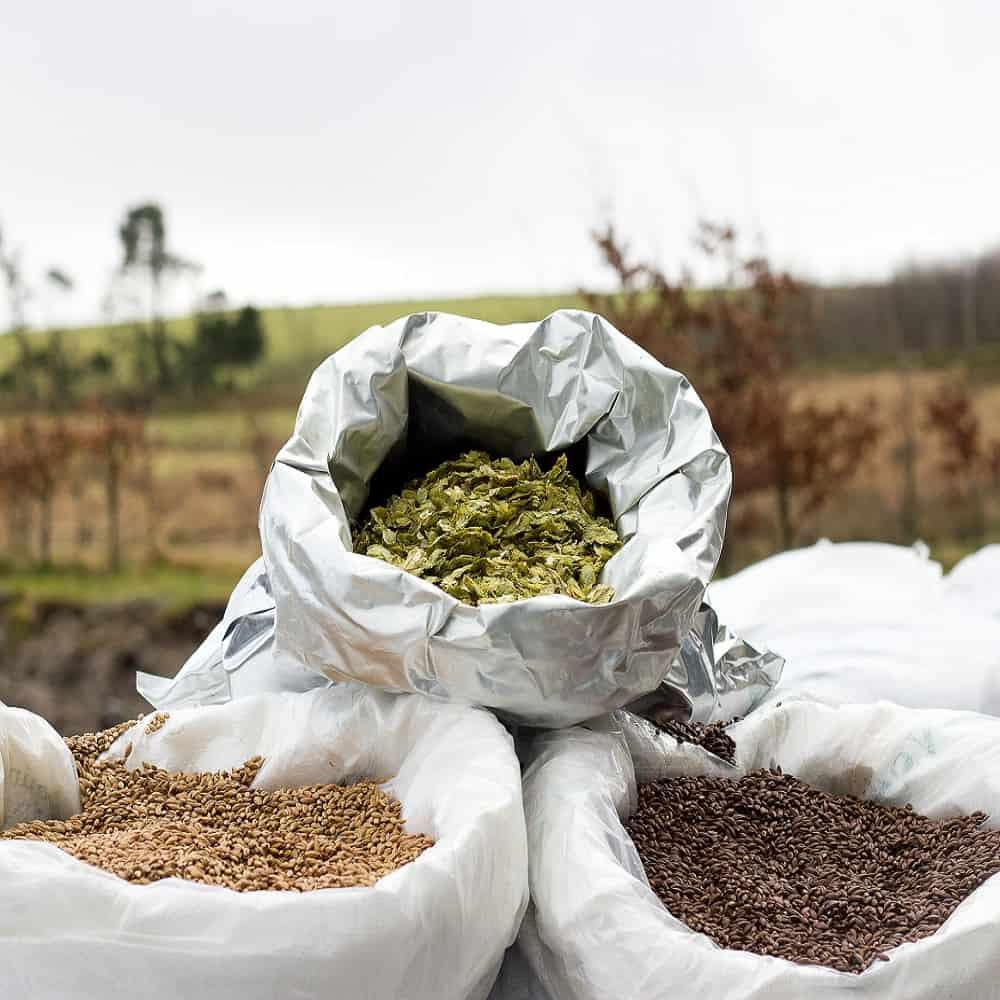 Dartmoor brewery hops and malt