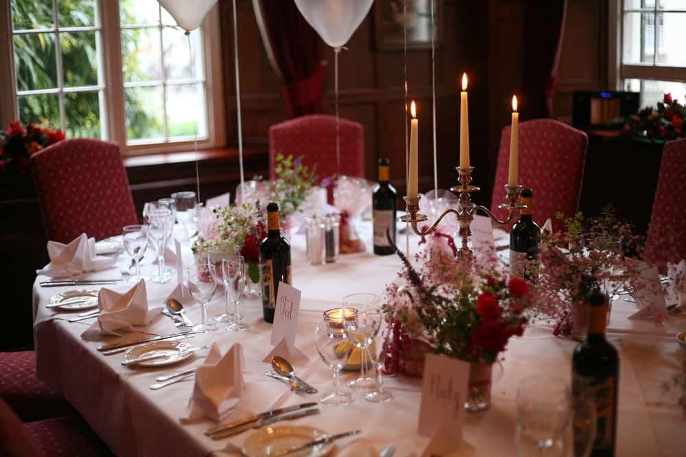 Private dinner in the Tavistock Room at The Bedford Hotel