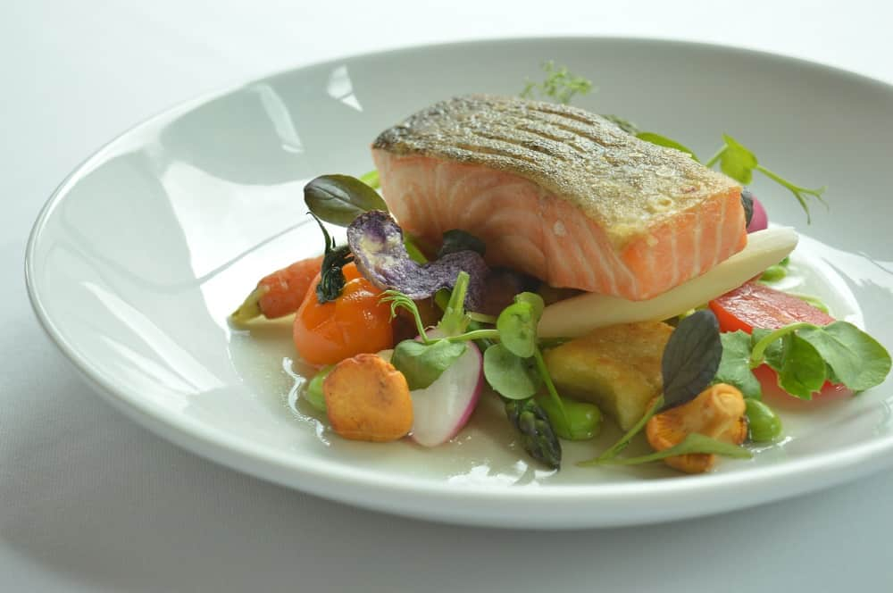 Salmon dish served at The Bedford Hotel