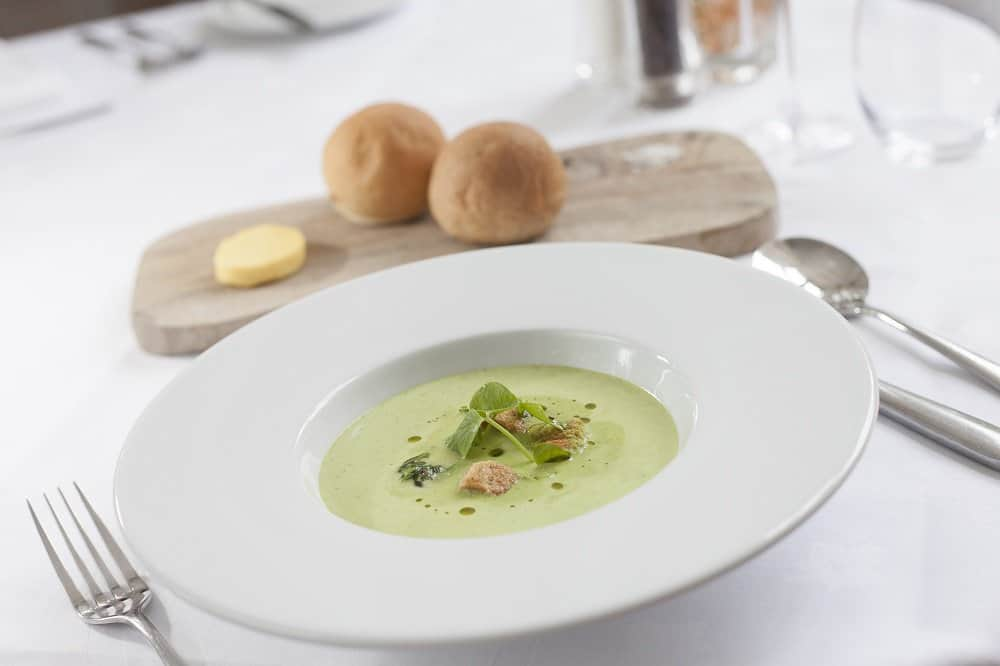 Soup with home made bread rolls