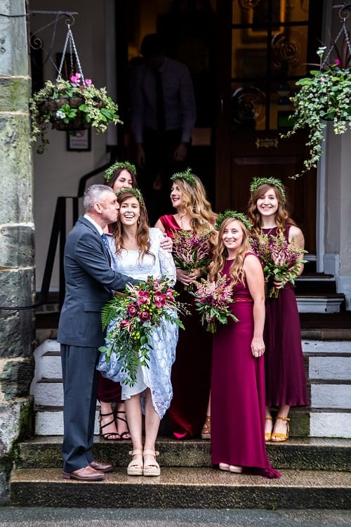 Bride and bridesmaids at The Bedford Hotel