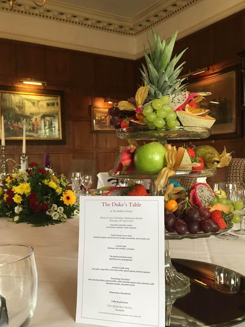 Duke's Table dinner at The Bedford Hotel