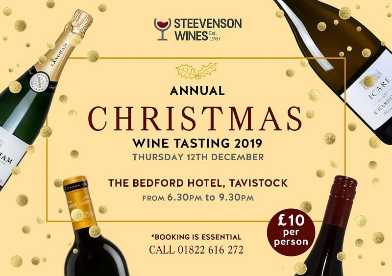 Details of wine tasting evening at The Bedford Hotel