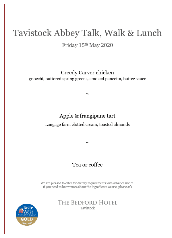 Special lunch menu for this event