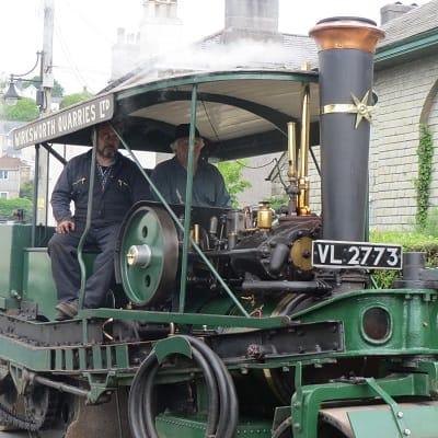 Steam traction engine in tavistock
